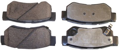 2007-2010 Hyundai Elantra Brake Pad Set Beck Arnley Hyundai Brake Pad Set 086-1672C