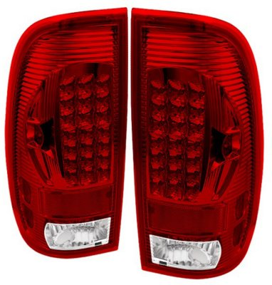 Spyder ALT-ON-FF15097-LED-RC LED Tail Light - Clear Lens; Chrome Interior, DOT, SAE compliant, Direct Fit