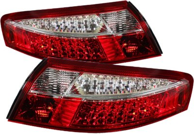 Spyder ALT-ON-P99699-LED-RC LED Tail Light - Clear Lens; Chrome Interior, DOT, SAE compliant, Direct Fit