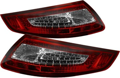Spyder ALT-ON-P99705-LED-RC LED Tail Light - Clear Lens; Chrome Interior, DOT, SAE compliant, Direct Fit