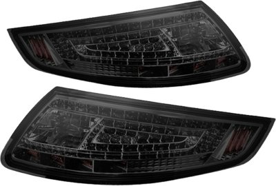 Spyder ALT-ON-P99705-LED-SM LED Tail Light - Smoked Lens; Chrome Interior, DOT, SAE compliant, Direct Fit