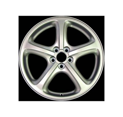 Replacement Alloy ALY68736U20 Wheel - Silver, Aluminum alloy, Spoke, Direct Fit