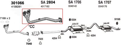 Ansa ANSA301066 Exhaust Pipe - OE, Natural, Aluminized Steel, Center-Pipe, Direct Fit