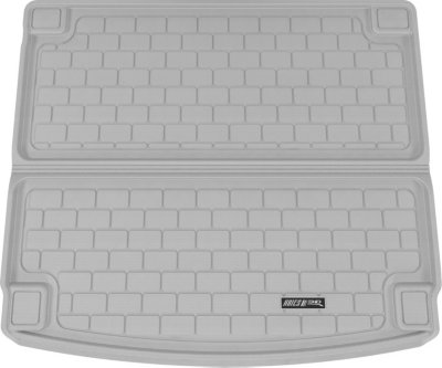 Aries ARSPO0021301 3D Floor Liner Cargo Mat - Gray, Rubberized, Thermoplastic, All-Weather, Molded Cargo Liner, Direct Fit