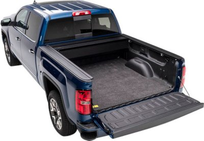 Bedrug B63BMN05CCD BedRug Bed Mat Bed Mat - Gray, Polypropylene with Foam Backing, With Drop In Bed Liner, Direct Fit