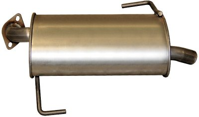 Bosal BO229041 Muffler - Single, Offset, Factory Finish, Aluminized Steel, Direct Fit