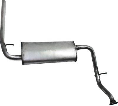 Bosal BOVFM1750 Muffler - Single, Natural, Aluminized Steel, Direct Fit