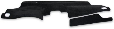 Coverking C37CDCC1PN065 Custom Dash Cover - Black, Suede, Mat, Direct Fit
