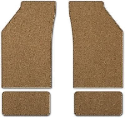 Coverking C37CFMBM12PN7241 Custom Floor Mats - Tan, Carpet, Carpet, Flat Floor Mat, Direct Fit