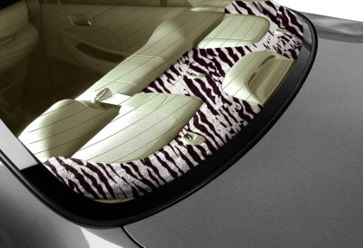 Coverking C37CRDA13SR711B Custom Deck Cover - Zebra, Velour, Direct Fit