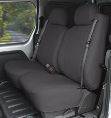 CalTrend CALPR11003LX I Can't Believe It's Not Leather Seat Cover - Charcoal, Synthetic leather, Solid, Direct Fit