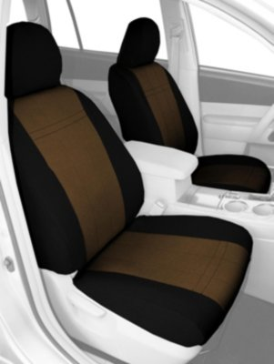 CalTrend CALPR11006GG SportsTex Seat Cover - Black sides and beige insert, Polyester fabric, 2-tone, Direct Fit