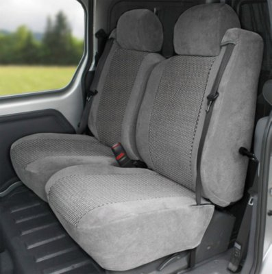CalTrend CALST33508RS OE Velour Seat Cover - Classic light gray sides with monarch insert, Velour, Solid, Direct Fit