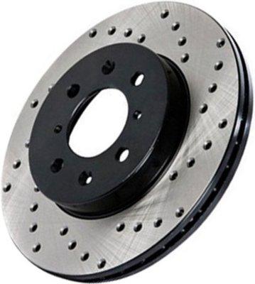 Centric CE12862092 Premium Brake Disc - Natural, Cross-Drilled, Direct Fit