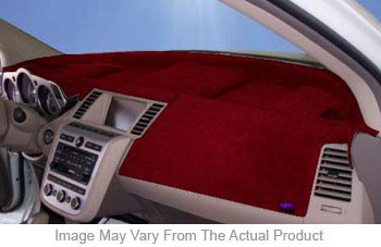Dash Designs DSHD09790VRD Plush-Velour Dash Cover - Red, Velour, Mat, Direct Fit