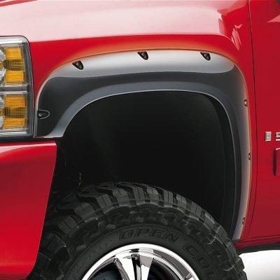 EGR E17792554F Bolt-on Look Fender Flares - Black, ABS plastic, Pocket Style (Rugged Bolt-On Look), Direct Fit