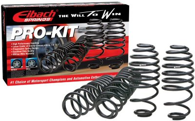 Eibach E2738103140 Pro-Kit Lowering Springs - Powdercoated Black, Direct Fit