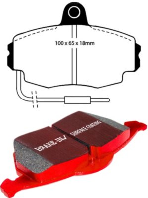 EBC E35DP3426C Redstuff 3000 Brake Pad Set - Ceramic, Direct Fit