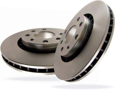 EBC E35RK853 Premium Brake Rotors Brake Disc - 11.3 in. Diameter, Cast Iron, Plain Surface, Direct Fit
