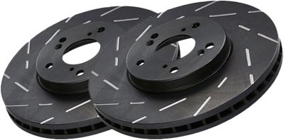 EBC E35USR1187 USR Slotted Brake Disc - 12.36 in. Diameter, Cast Iron, Slotted, Direct Fit