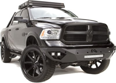 Fab Fours FFRDR13D29511 Vengeance Off-Road Bumper - Powdercoated Black, Steel