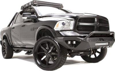 Fab Fours FFRDR13D29521 Vengeance Off-Road Bumper - Powdercoated Black, Steel