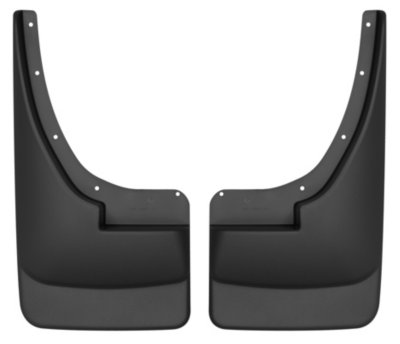 Husky Liners H2156001 Custom Fit Mud Flaps - Black, Plastic, Direct Fit