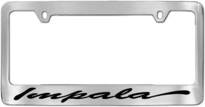 1958 2012 Chevrolet Impala License Plate Frame License Frame Inc Chevrolet License Plate Frame CHO1S 58 59 60 61 62 63 64 65 66 67 68 69 70 71 72 73 74 75 76 77