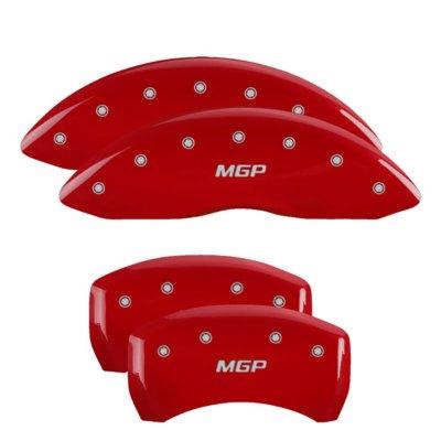 MGP MGP18011SMGPRD Caliper Cover - Red Powdercoat, Aluminum