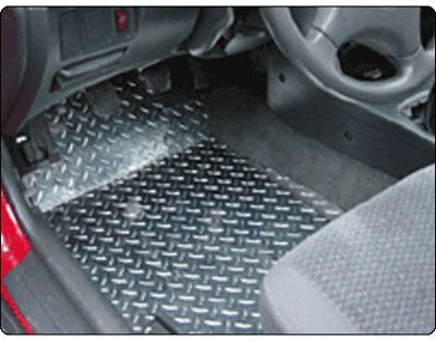 Owens Products OWP39567 LaZer Floor Shields Floor Mats - Polished, Aluminum, All-Weather, Flat Floor Mat, Direct Fit