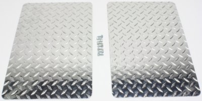 Owens Products OWP861218D Mud Flaps - Diamond Plate, Aluminum, Direct Fit