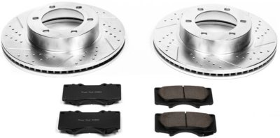 Image of 20032006 Toyota Tundra Brake Disc and Pad Kit Powerstop Toyota Brake Disc and Pad Kit K2324