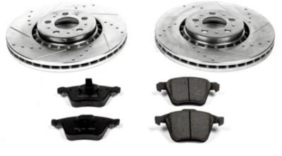 Image of 20032014 Volvo XC90 Brake Disc and Pad Kit Powerstop Volvo Brake Disc and Pad Kit K4552