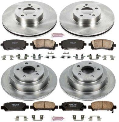 Powerstop P15KOE1122 OE Replacement Brake Disc and Pad Kit - Front Rotors: 10.91 in.; Rear Rotors: 10.47 in. Disc Diameter