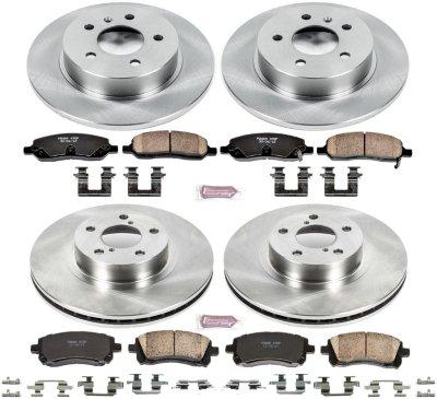 Image of 2000 Subaru Outback Brake Disc and Pad Kit Powerstop Subaru Brake Disc and Pad Kit KOE2749