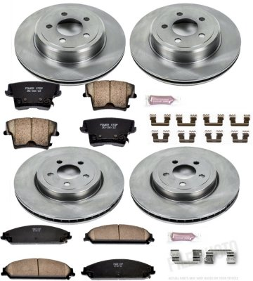 Image of 20062013 Dodge Charger Brake Disc and Pad Kit Powerstop Dodge Brake Disc and Pad Kit KOE2853