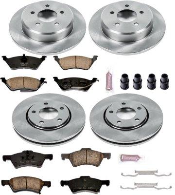 Image of 20042007 Dodge Grand Caravan Brake Disc and Pad Kit Powerstop Dodge Brake Disc and Pad Kit KOE4458
