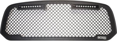 Putco P45270523B Boss Billet Grille - Powdercoated Black, Aluminum, Punch Style, Grille Insert, Direct Fit