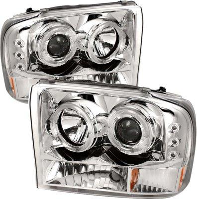 1999-2004 Ford F-350 Super Duty Headlight Spyder Ford Headlight 5010360 PRO-YD-FF25099-1P-G2-C