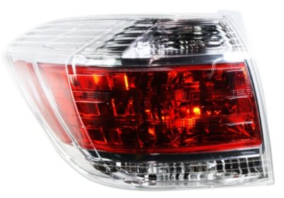 Replacement REPT730154  Tail Light - Clear & Red Lens, DOT, SAE compliant, Direct Fit
