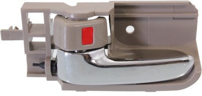 Replacement REPTY462144 Door Handle - Brown bezel with chrome lever, Plastic, Interior, Direct Fit