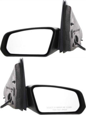 Kool Vue ST17ER-PLK Mirror - Textured Black, Direct Fit, Non-heated