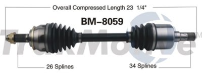 2007-2014 Mini Cooper Axle Shaft Surtrack Mini Axle Shaft BM-8059