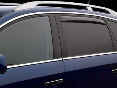 Weathertech W2481709 Window Visor - Smoke, Acrylic, In-Channel, Direct Fit