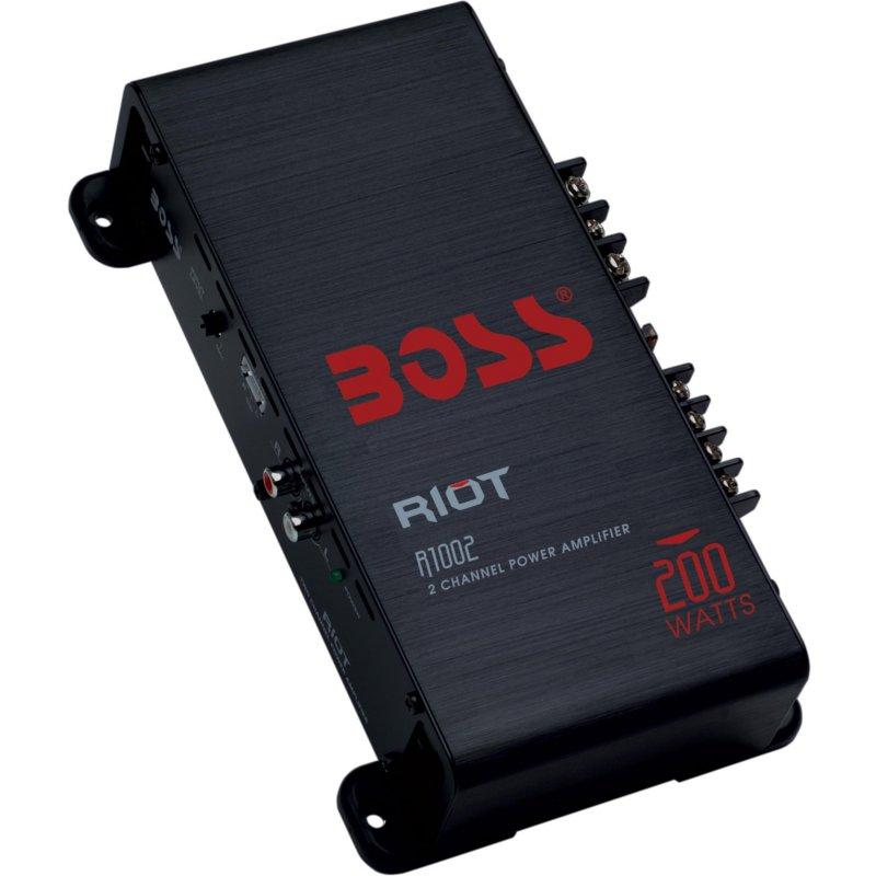 BOSSR1002 BOSS Audio Car Audio Amplifier full range boss audio riot BOSSR1002 BOSS Audio Car Audio Amplifier Car Full Rangeboss Audio Riot Car Audio Amplifier. New Universal Full Range With 1-year Boss Audio Limited Warranty