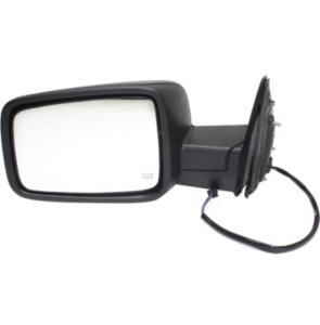 Mirror Manual Folding Heated - Driver Side, Power Glass, Textured Black