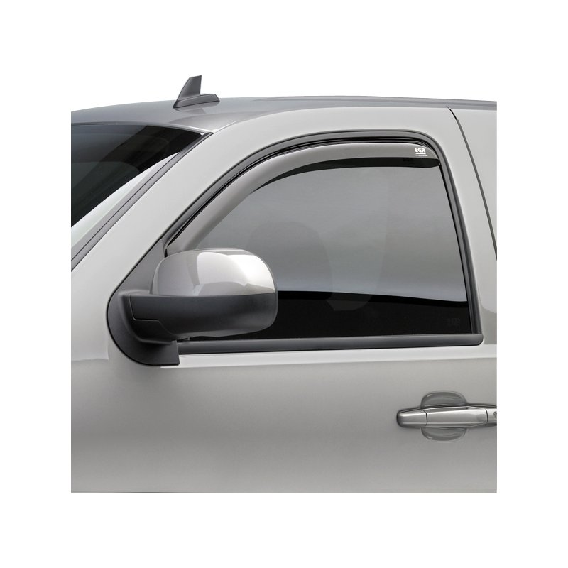 Image of E17561021 EGR Window Visor Front, Driver and Passenger Side, acrylic in-channel mount type egr slimline in-channel smoke