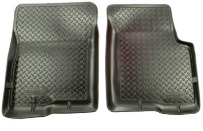 Nissan Rogue Husky Liners Classic Style 36701 Floor Mats   Black, Made Of  Rubberized/Thermoplastic, Front Row, Direct Fit 2 Pieces