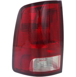 Driver Side Tail Light, With bulb(s) - Clear & Red Lens, Standard Type, CAPA CERTIFIED