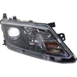 Penger Side Headlight With Bulb S Clear Lens Black Interior